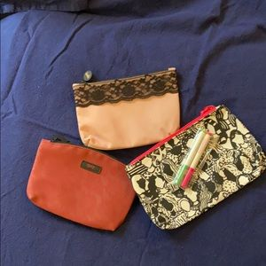 Set of three ipsy cosmetic bags